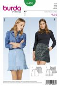6480 Burda Pattern Burda Young Mini Skirts